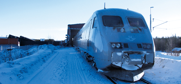 Rapid deicing of passenger trains